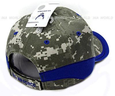 dbcd073aa6e ... U.S. AIR FORCE hat USAF Logo Military Baseball cap Official Licensed-  Camo Blue 4