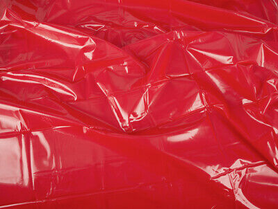 Lack Laken Bettlaken Vinyl Laken Massage Auflage Gummifeeling Rot 200 x 230cm 5