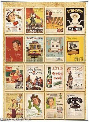 Lot of 32 Old Memories Forever Old Movie & Ads Poster Vintage Postcards 5