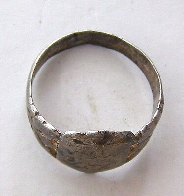 ANCIENT Rome Byzantium Sterling Silver Mens Ring Stamp 5-6 century #AR589-593 2