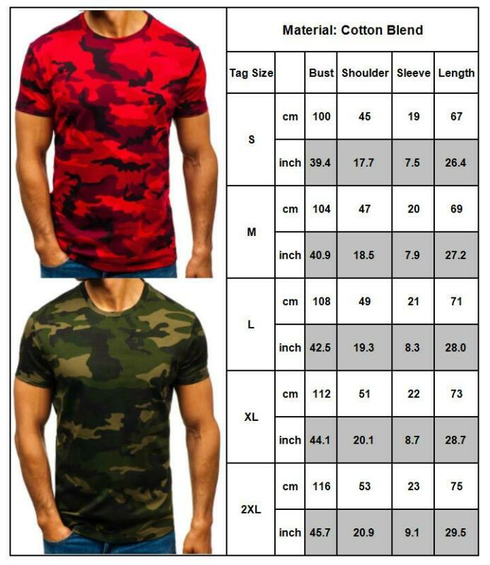 Mens City Camouflage Tactical Military Short Sleeve Army Camo T-Shirt Blouse Top 3