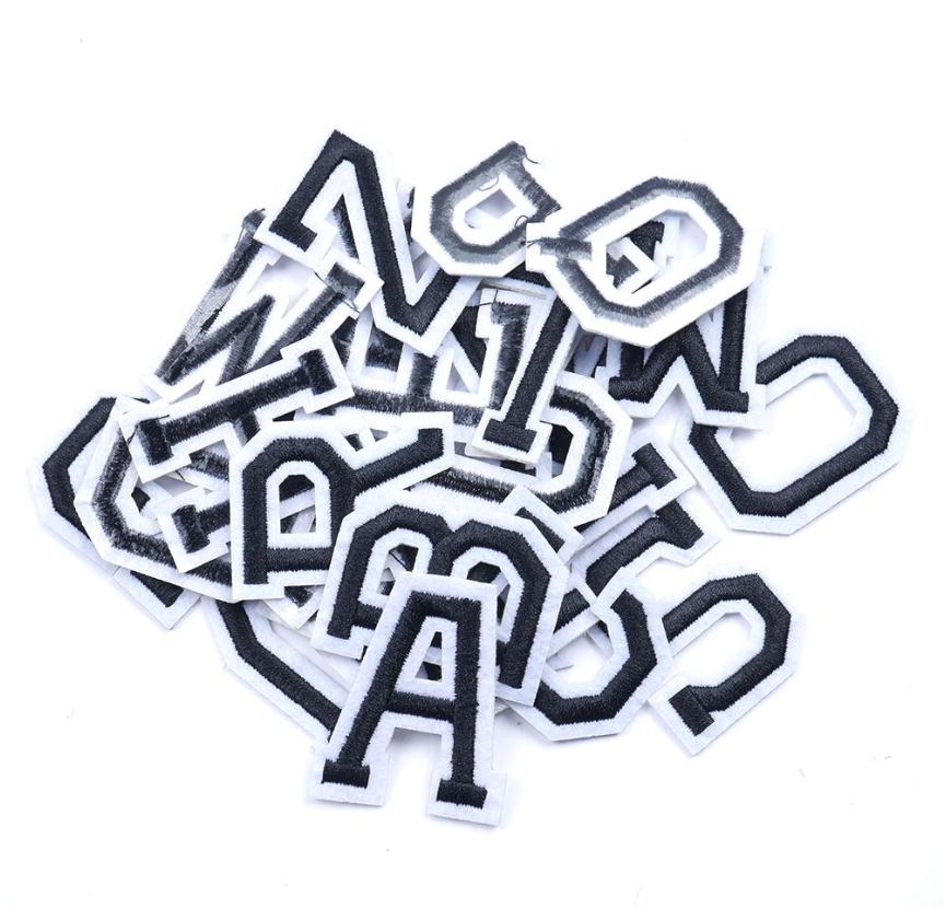 Patch Toppa Alfabeto Lettere Alphabet Personalizzate Ricamata Termoadesiva 5cm 2