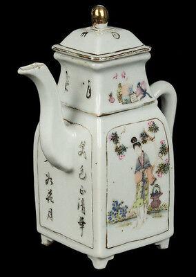 China 19. Siglo Tongzhi Tetera -a Chino Famille Rosa Tetera - Chinois Cinese 4