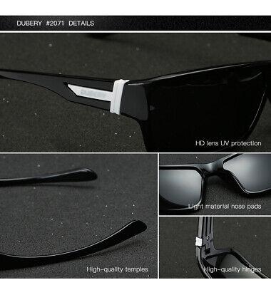 DUBERY Mens Womens Vintage Polarized Sunglasses Driving Eyewear Shades UV400 Hot 3