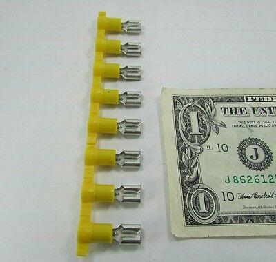 48 Panduit Yellow 1/4 Female Electrical Quick Connector Crimp Terminals DV10-250 2