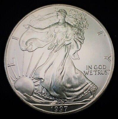 1997 Silver American Eagle BU Coin 1 oz $1 Dollar US Mint Uncirculated Brilliant 6