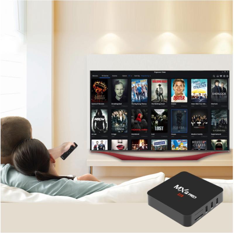 Hot MXQ PRO Quad Core Android 7.1 Smart TV Box 1+8GB HDMI WIFI 4K Media Streamer 4