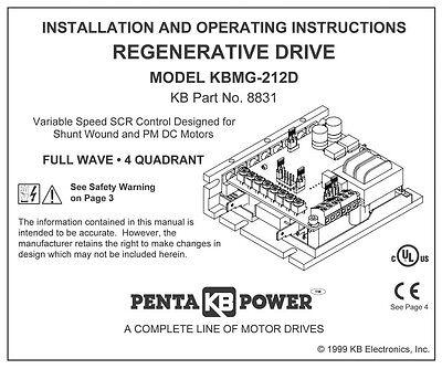KB Electronics KBMG-212D DC motor control 8831 upc 024822088312 3