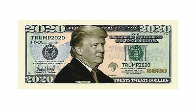 Lot of 50 - Donald Trump 2020 Dollar Bills - Presidential Novelty / Fake Money 2