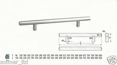 Cool T Bar Handles Kitchen Bedroom Cabinet Door Handles 96Mm To 640Mm Sizes Beutiful Home Inspiration Ommitmahrainfo