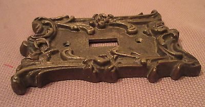 rare antique ornate thick solid brass light switch plate electric outlet cover 5
