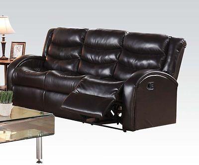 2PC MOTION SOFA Set Unique Armrest Sofa & Loveseat Bonded ...