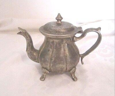 Antique Vintage Art Deco Silver Islamic Arabic Tea Coffee Pot Signed Hand Design 2