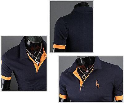 Sommer Herren Slim Fit Poloshirt Hemd Kurzarmshirt Casual Business T-Shirt Tops 8