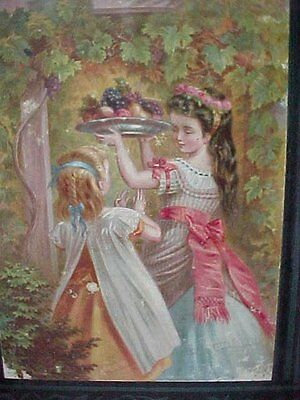 Very Rare Old 1876 Edition Vtg Antique Childs Book Happy Sundays Hard Back Young