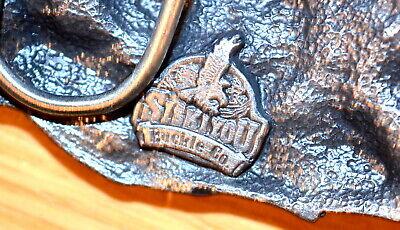 "Vintage 1987 SISKIYOU ""I'd Rather Be Hunting"" Pewter Belt Buckle - Made in USA 5"