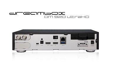DREAMBOX DM 920 UHD 4K E2 Linux 1x DVB-S2 Dual SAT Twin Tuner 2160p PVR  DM920