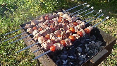 20 x Schaschlikspieße 50 cm Mangal Edelstahl Schampura Grillspieße Fleischspieße