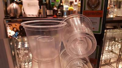 10 x Disposable Plastic Clear Bomb Shot Glasses Jager bomb Glasses Party Shots 3
