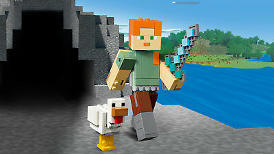 LEGO® Minecraft™ 21149 BigFig Alex mit Huhn Actionfigur N2/19 3