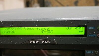 TANDBERG ECRISSION EN8090 mpeg4 HDSDI encoder with dual IP streamer, asi  also