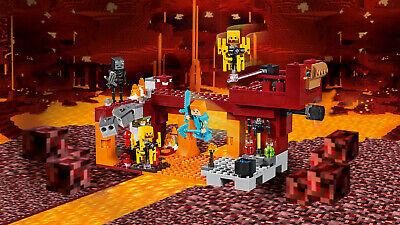 LEGO Minecraft 21154 Die Brücke Wither-Skelett Nether-Kulisse  N8/19 4