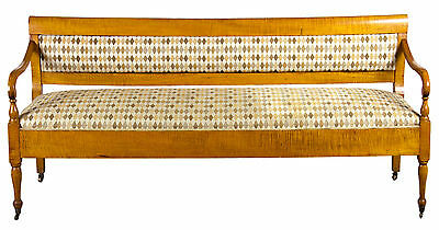 SWC-Vibrant Country/Federal Tiger Maple Settee, New England, c.1810-20 2