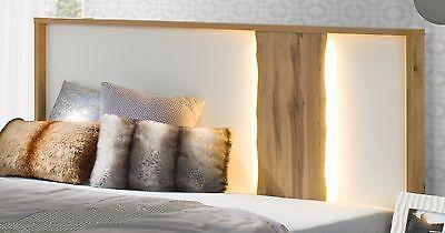 Komplett Schlafzimmer Hochglanz Weiss Altholz Optik Mit Schwebeturenschrank Eur 799 00 Picclick De
