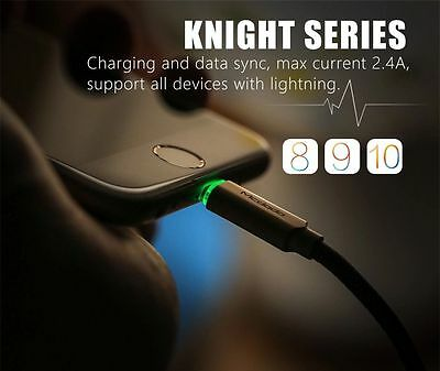 Mcdodo Smart LED Auto Disconnect Lightning Data USB Charging Cable iPhone X/8/7