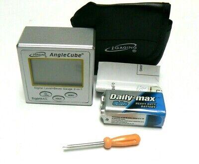 iGaging Angle Cube Digital Protractor Gauge Magnetic Angle & Level Sensor Bevel 6