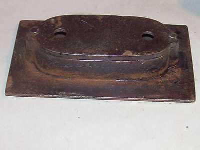 Antique Victorian Door Knob Key Plate Bronzed Cast Iron Fancy Eastlake Hardware 4