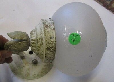 Fine 2 Pc. Lot Of Lighting Inc. Deco Sconce & Ceiling Frosted Globe From Tudor 5