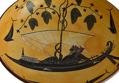 Black figure Kylix With Dionysus crossing the sea- Exekias-Munich Museum Replica 3