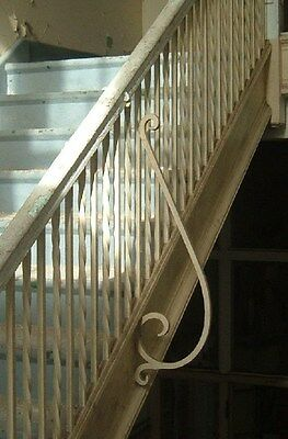 Wought iron stair railing pine cap, Greenbrier High School, Ronceverte, WV Lot 3 2