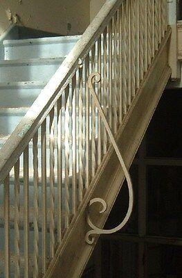 Wought iron stair railing pine cap, Greenbrier High School, Ronceverte, WV Lot 3 2