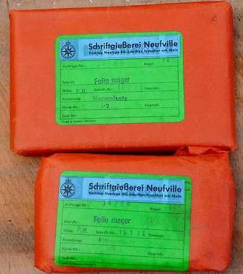 """""""14p Folio mager"""" Bleischrift NEU+OVP  Bleisatz Buchdruck Handsatz Druckerei 2"""