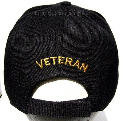 info for 34977 6c46b ... new arrivals 2 of 3 vietnam era veteran cap hat w eagle new black  military free ...