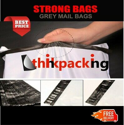 Grey Mailing Bags Strong Post Mail Postage Poly Bag Postal Self Seal Plastic uk 2