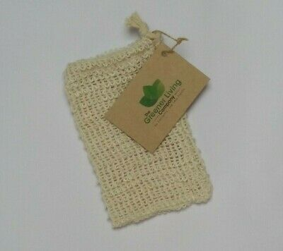 Eco Friendly Natural Sisal Wash Soap Bag Exfoliate Reusable Plastic-Free Shower 5