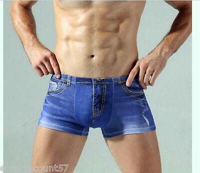 Boxer Caleçon Imprimé Jean Homme Très Sexy Taille 2XL  Bx 1449 2 • EUR 14,25
