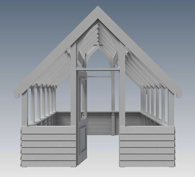 GARDEN HOUSE / GLASS HOUSE - GROW VEGIES & PLANTS - V01 - Building Plans 3D & 2D 2
