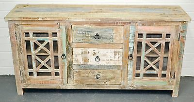 Recycled Timber French Country Shabby Chic Sideboard Cabinet Buffet