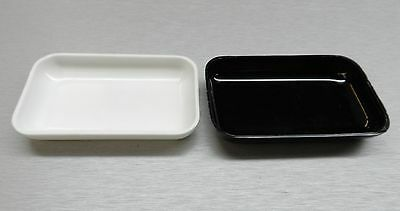White Black Plastic Tray Beads Gemstones 2 Small Open Trays