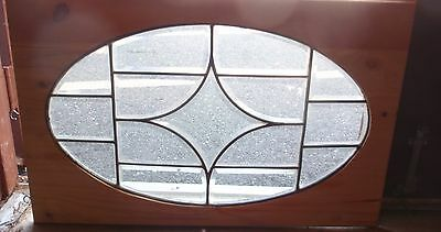 Early 20th century beveled stained glass window 2