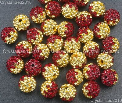 20Pcs Quality Czech Crystal Rhinestones Pave Clay Round Disco Ball Spacer Beads 6