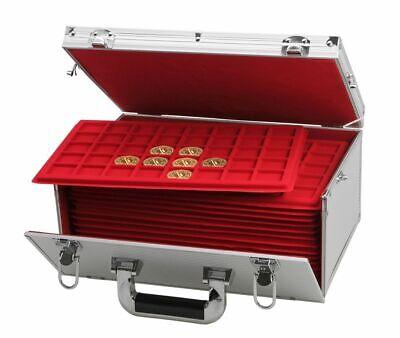 Look Alluminio Valigia per Monete Gigante 15 Tableaux Rosso 60 Scompartimenti 4
