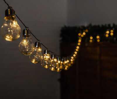 Outdoor String Lights 30 Solar Power Retro Bulbs LED Garden Party 6.35m Solaray™ 3