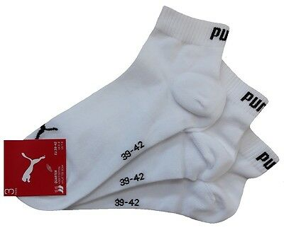 3 Paar PUMA Invisible Quarter - Sneaker Socken Kurzschaftform 1/4 Schaft 7