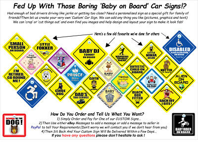 Baby On Board Sign, Baby in Sunglasses Sign, Baby Wearing Shades Sign, 2
