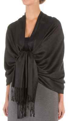 Soft Silky Solid Pashmina Scarf Shawl Wrap Evening Wedding Bridesmaid Cashmere